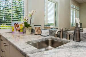 A close-up look at one of our treatment room sinks at Azura Skin Care Center