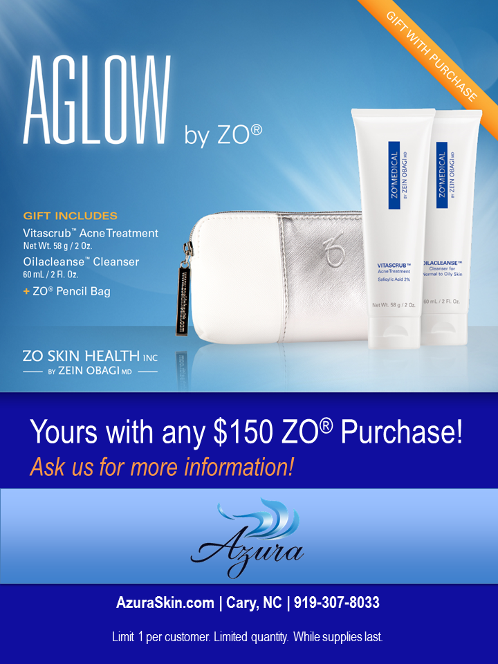 Get glowing skin with this free gift that accompanies any $150 ZO purchase at Azura in February, 2017!