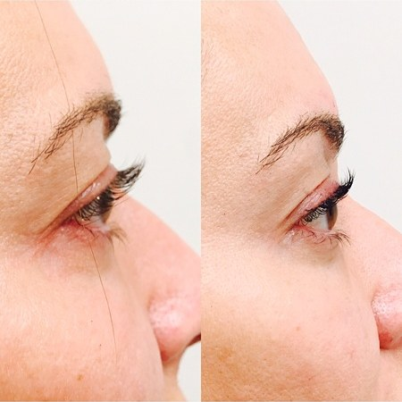 Our eyelash curling treatment lasts up to three months!