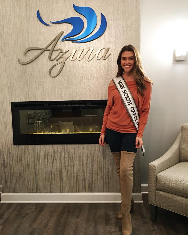 2018 Miss North Carolina USA Caelynn Miller-Keyes at Azura Skin Care Center