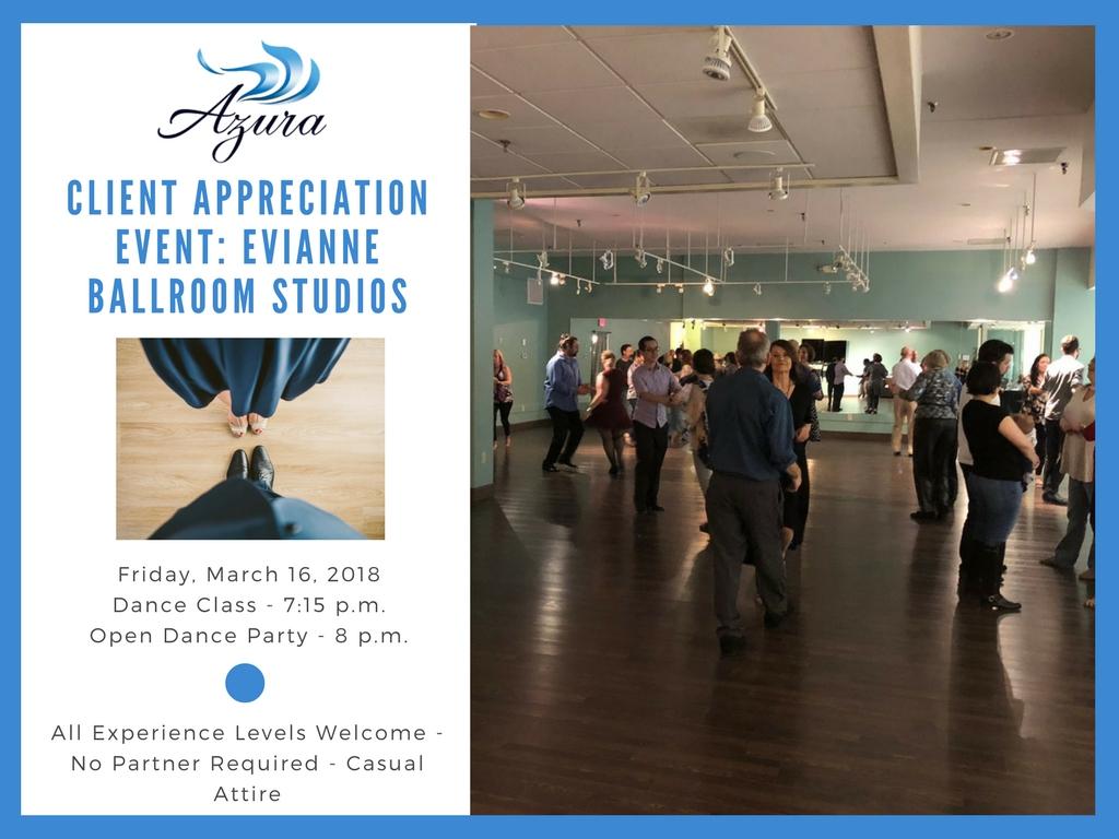 Azura Client Appreciation Event - Dance Lessons