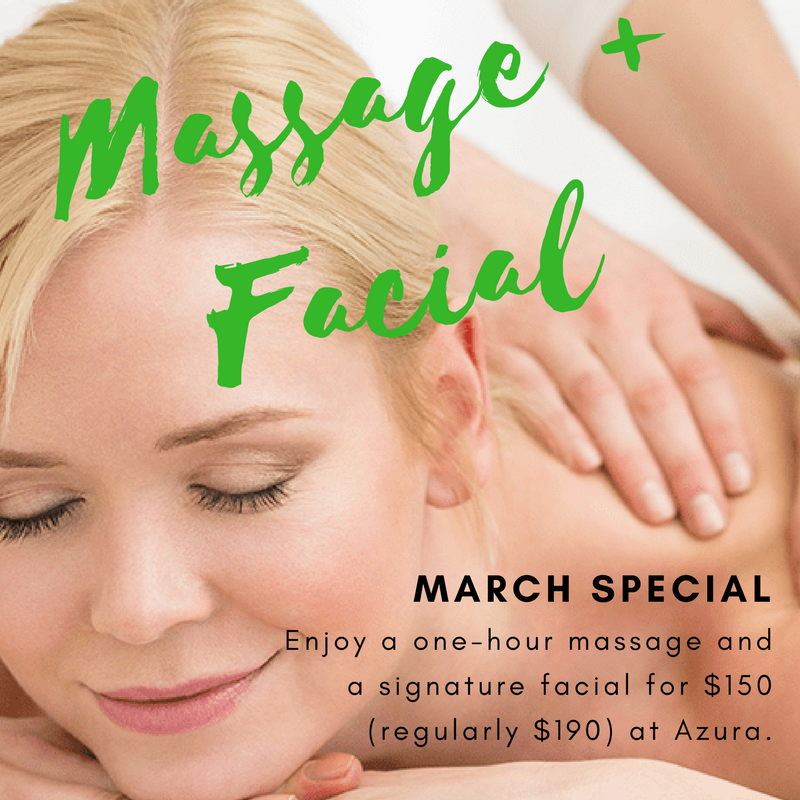 March 2018 special offers at Azura Skin Care Center