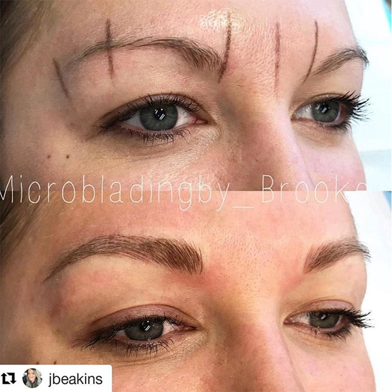 Microblading before and after Azura Skin Care Center