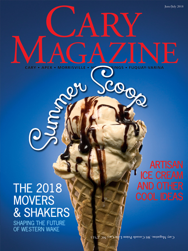 """Cary Magazine names their 2018 """"Movers & Shakers"""" in the June-July print issue."""