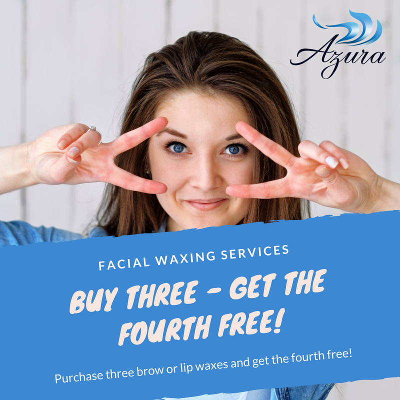 Waxing special offer Azura Skin Care Center Cary NC July 2018