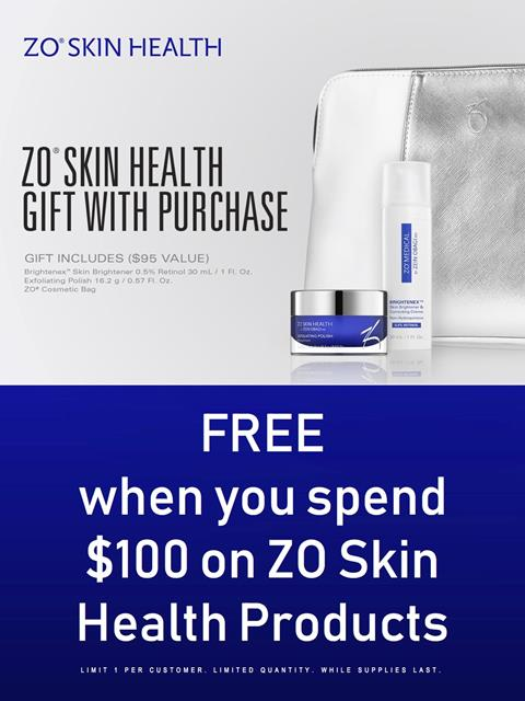 Special ZO Skin Health gift with purchase in July at Azura Skin Care Center Cary, NC - July 2018
