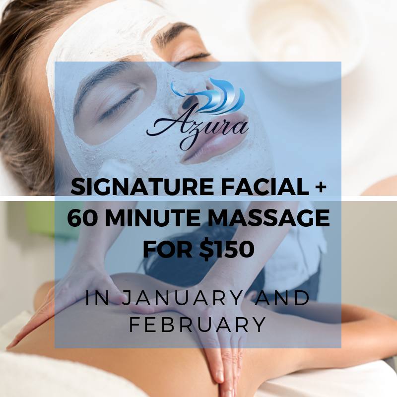 Azura Skin Care Center facial and massage combo offer