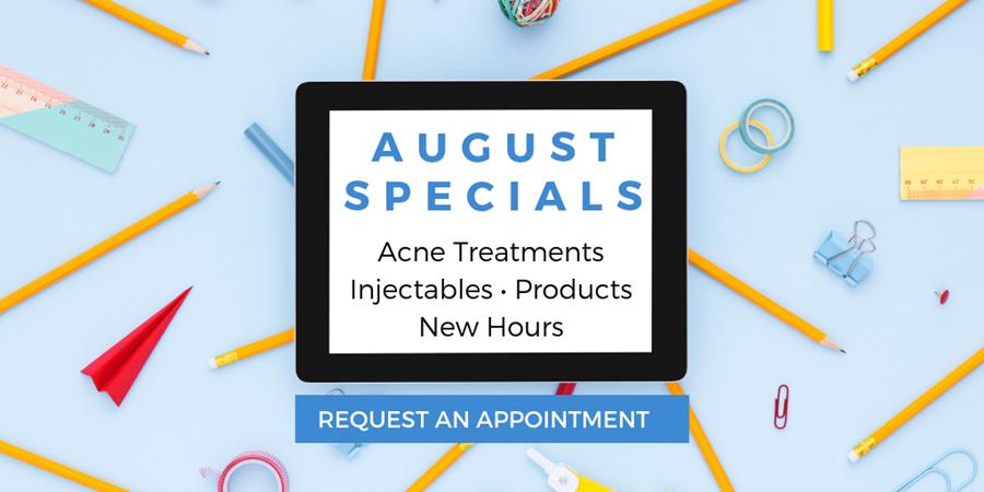 Azura Skin Care Center August 2019 Special Offers