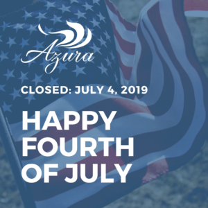 Azura Closed 4th of July