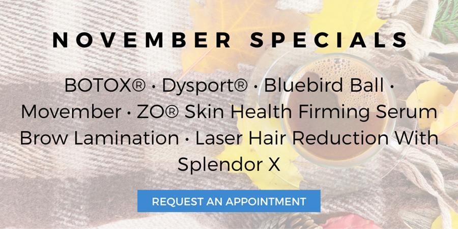 Azura Skin Care Center November Special Offers 2019