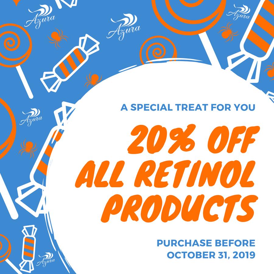 20% off Azura Retinol Products in October