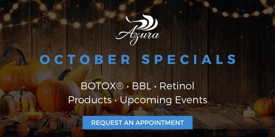 Azura Skin Care Center Special Offers October 2019