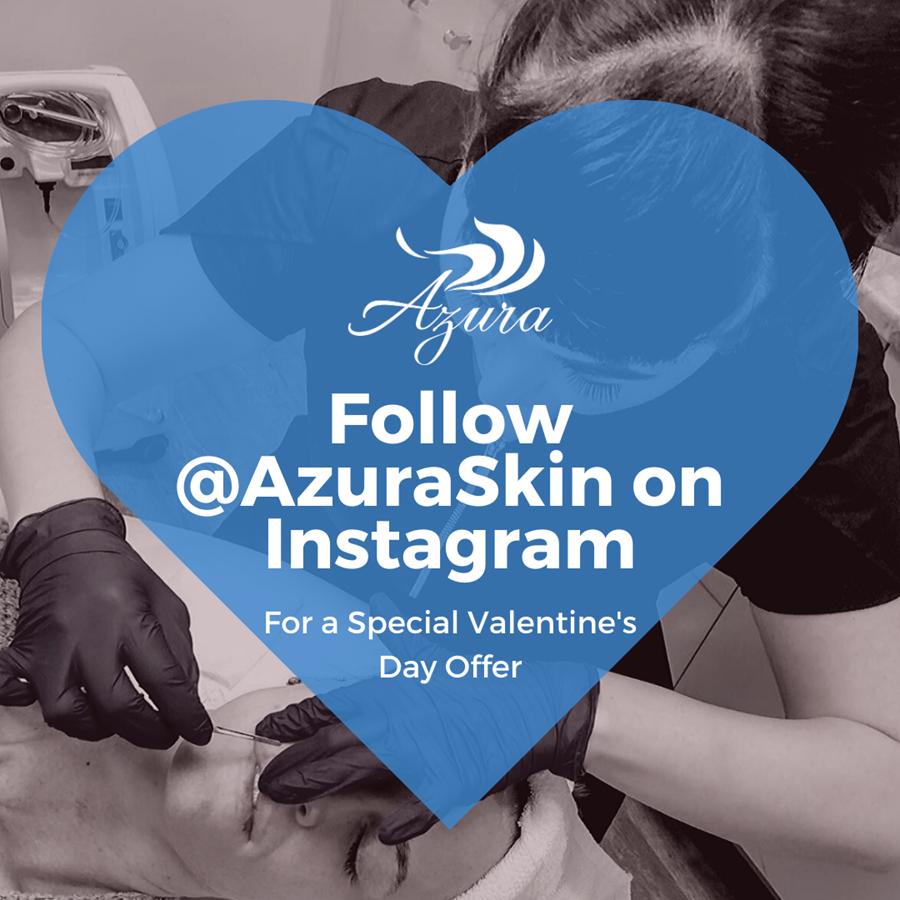 Azura Skin Care Center Instagram Offer for Febraury
