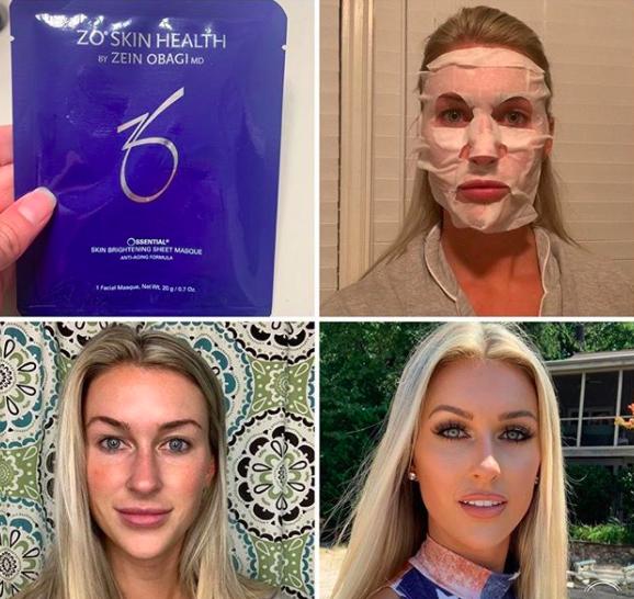 Miss NC for America 2019 ZO brightening sheet mask