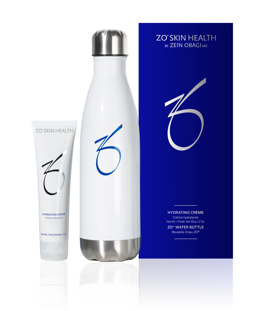 ZO Skin Health Hydrating Creme and Water Bottle at Azura Skin Care Center