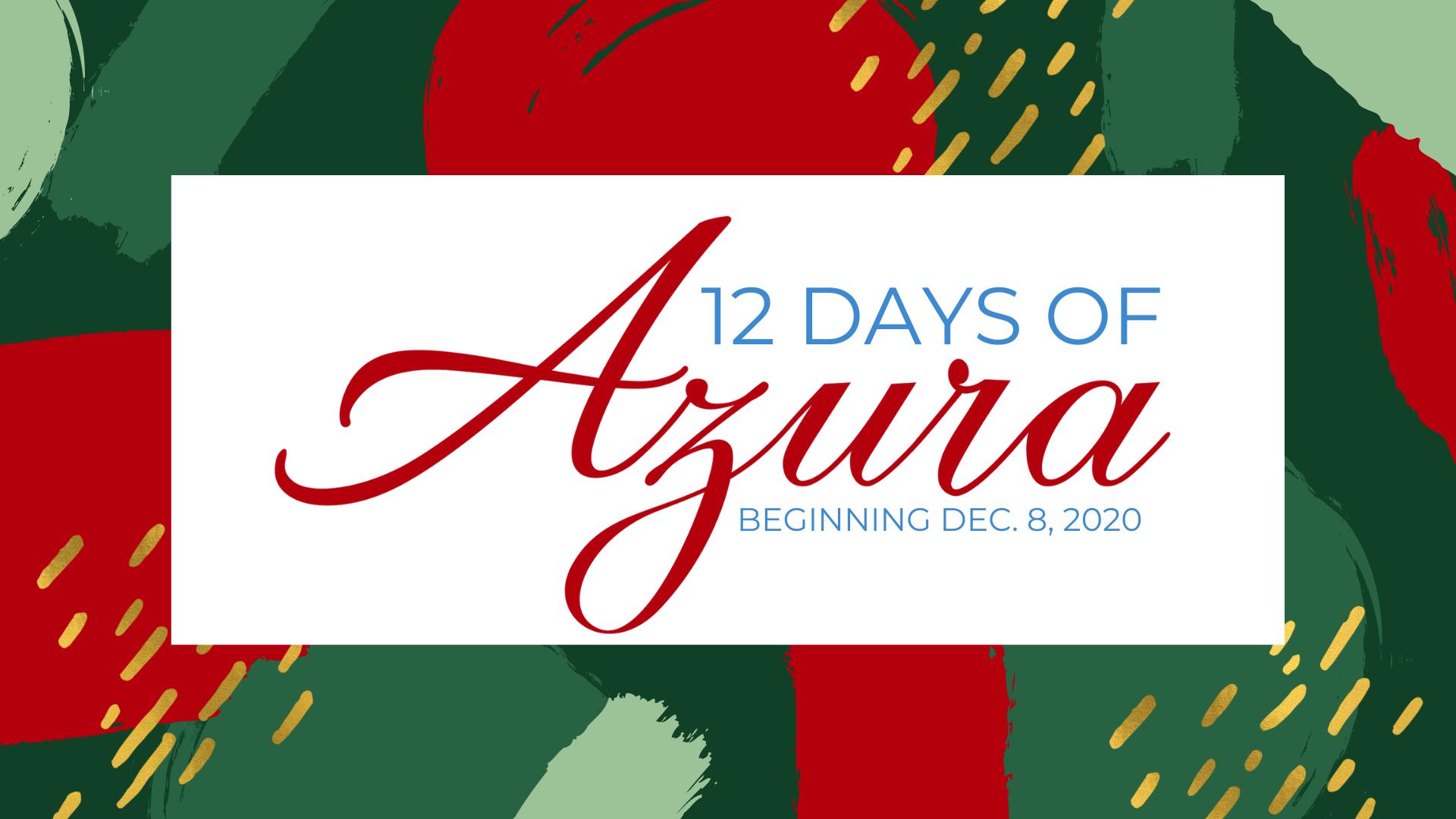 Azura 12 Days of Christmas - Event Cover