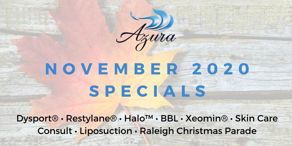 November 2020 Specials at Azura Skin Care Center