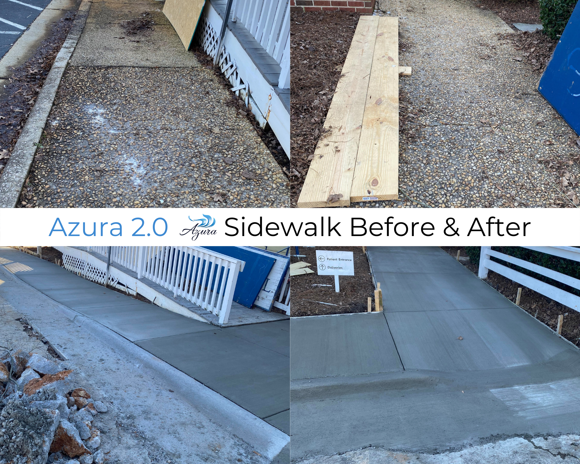 Azura New Location Sidewalk Before and After