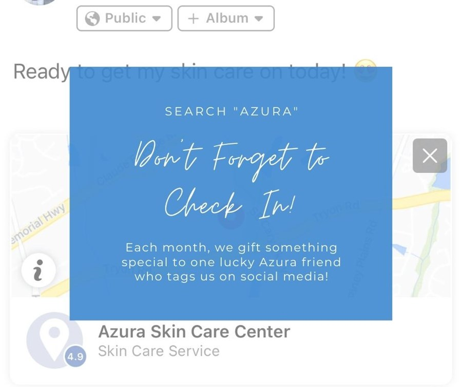 Check In on Facebook at Azura Skin Care Center